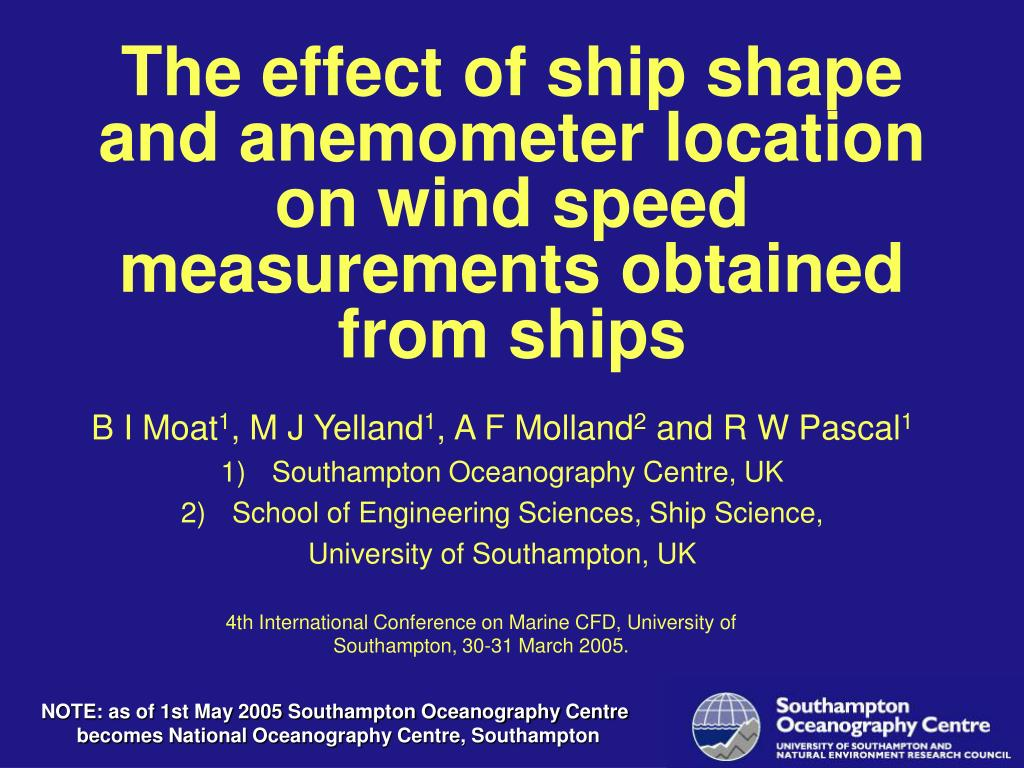 the effect of ship shape and anemometer location on wind speed measurements obtained from ships l.