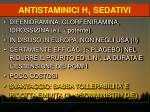 antistaminici h 1 sedativi