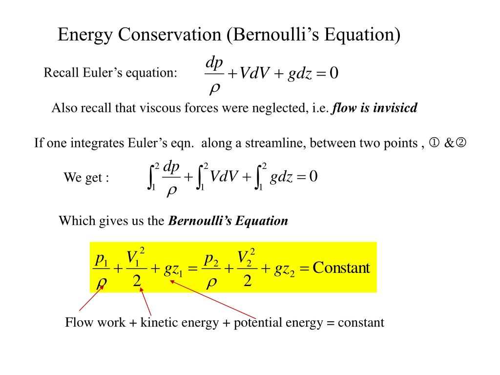 energy conservation bernoulli s equation l.
