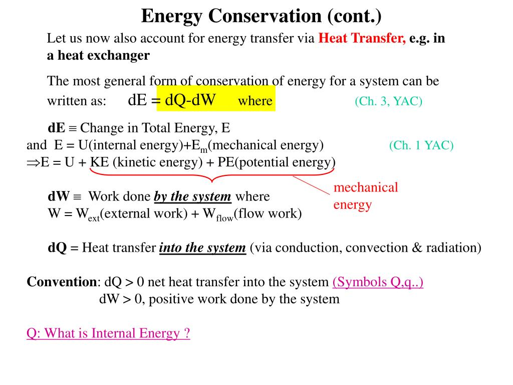 Let us now also account for energy transfer via