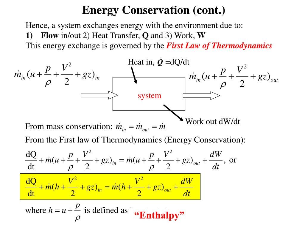Hence, a system exchanges energy with the environment due to: