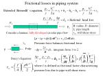 frictional losses in piping system