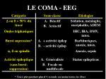 le coma eeg