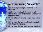 making tiering invisible