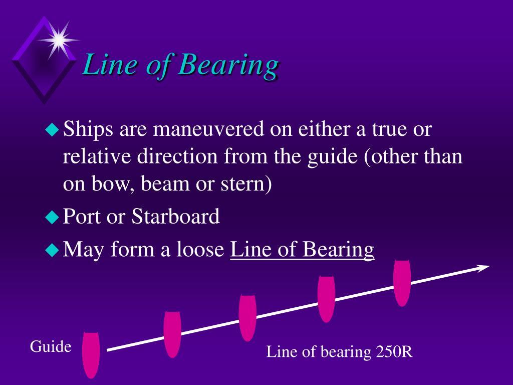 Line of Bearing