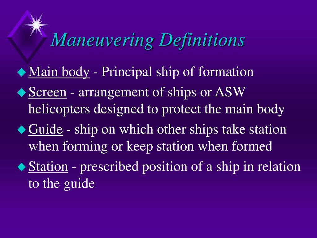 Maneuvering Definitions