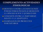 complemento actividades fisiologicas