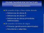 inmunodeficiencias clasificaciones