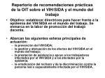 repertorio de recomendaciones pr cticas de la oit sobre el vih sida y el mundo del trabajo