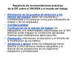 repertorio de recomendaciones pr cticas de la oit sobre el vih sida y el mundo del trabajo16