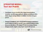 struktur modal teori dan praktik