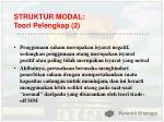struktur modal teori pelengkap 2