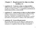 chapter 3 requirements for ship recycling facilities 1