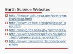 earth science websites