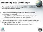 determining m e methodology