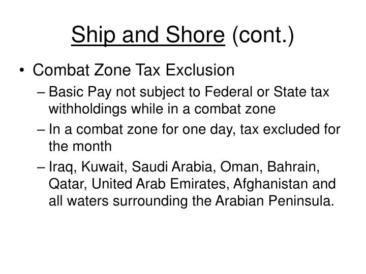 Ship and shore cont