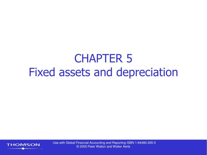 chapter 5 fixed assets and depreciation n.