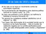 20 de julio de 1810 y despu s