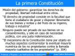 la primera constituci n9