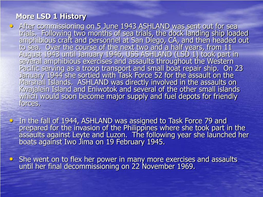 More LSD 1 History