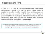 fiscale aangifte rpb28