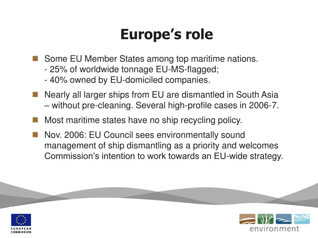 Europe's role