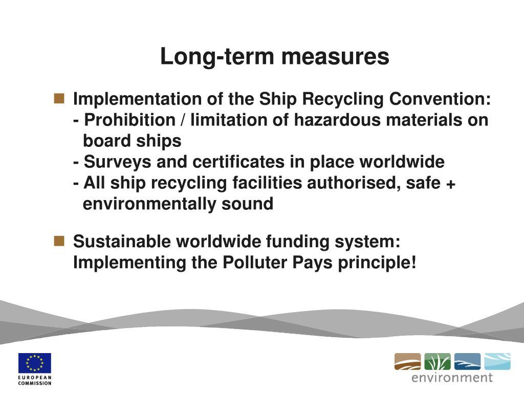Long-term measures