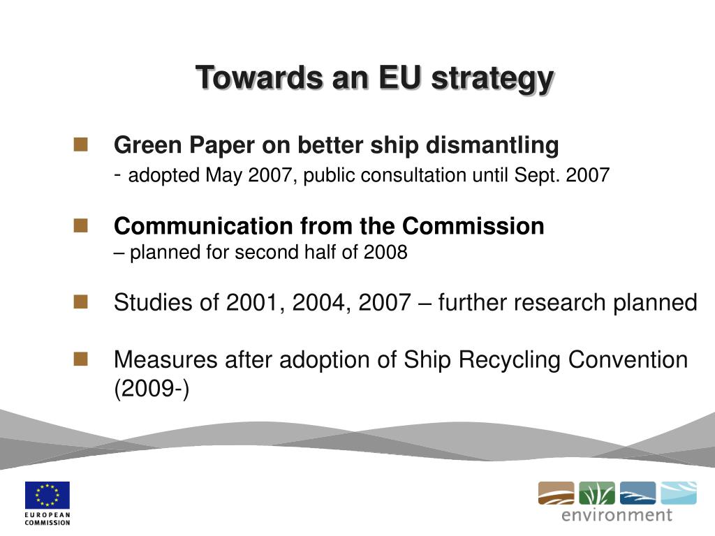 Towards an EU strategy