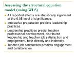 assessing the structural equation model using wls