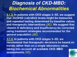 diagnosis of ckd mbd biochemical abnormalities27