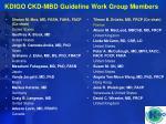 kdigo ckd mbd guideline work group members
