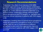 research recommendations62