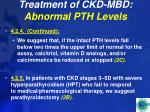 treatment of ckd mbd abnormal pth levels48