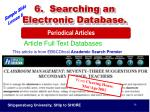 6 searching an electronic database
