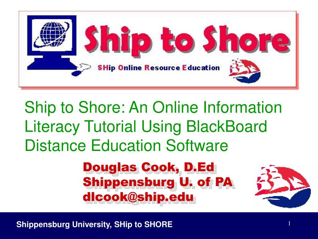 douglas cook d ed shippensburg u of pa dlcook@ship edu