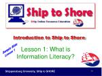 introduction to ship to shore29