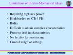 limitations of electro mechanical relays