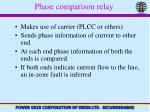 phase comparison relay