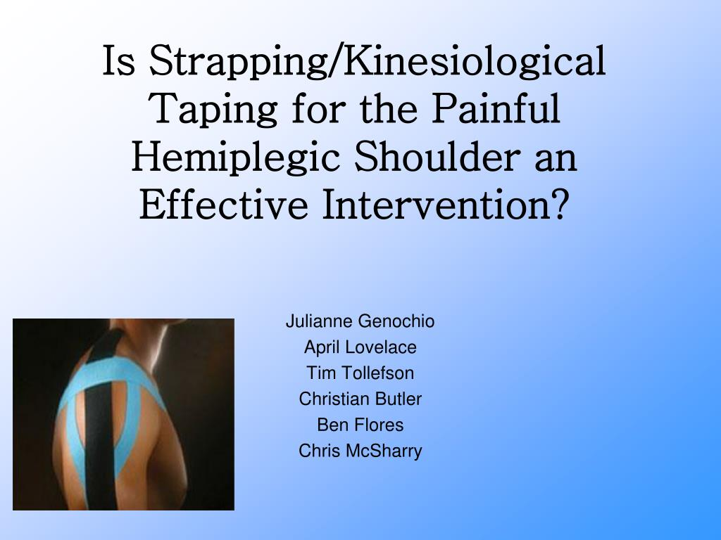 is strapping kinesiological taping for the painful hemiplegic shoulder an effective intervention l.