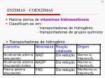 enzimas coenzimas