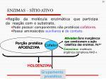 enzimas s tio ativo