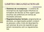 limites organizacionais57