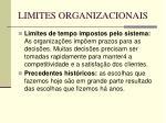 limites organizacionais58