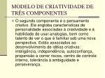 modelo de criatividade de tr s componentes33