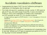accidents vasculaires c r braux