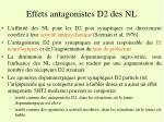 effets antagonistes d2 des nl