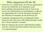 effets antagonistes d2 des nl1