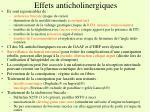 effets anticholinergiques