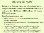 efficacit des nlsg1
