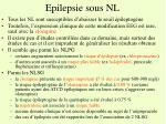 epilepsie sous nl
